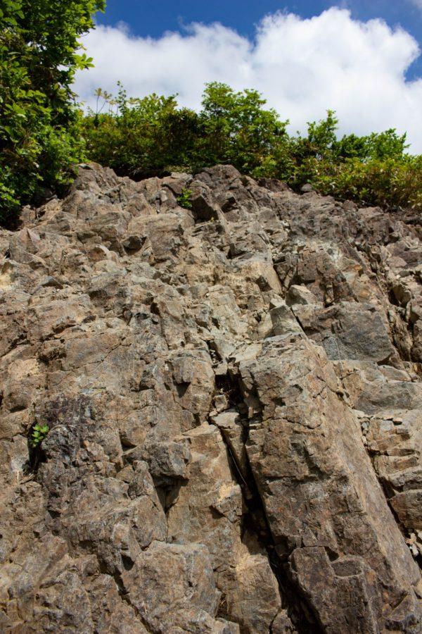 岩場の様子