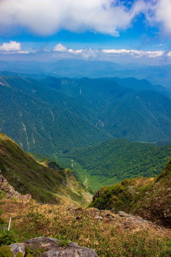稜線からの景色その1