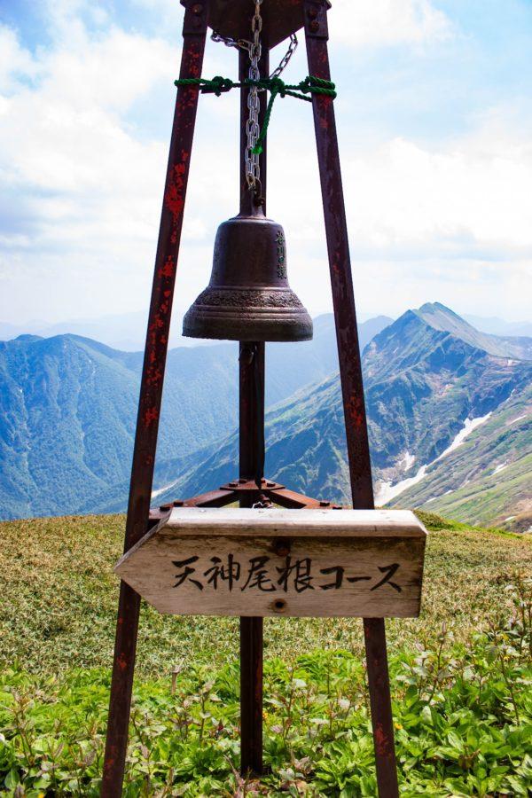 肩ノ小屋に設置された鐘