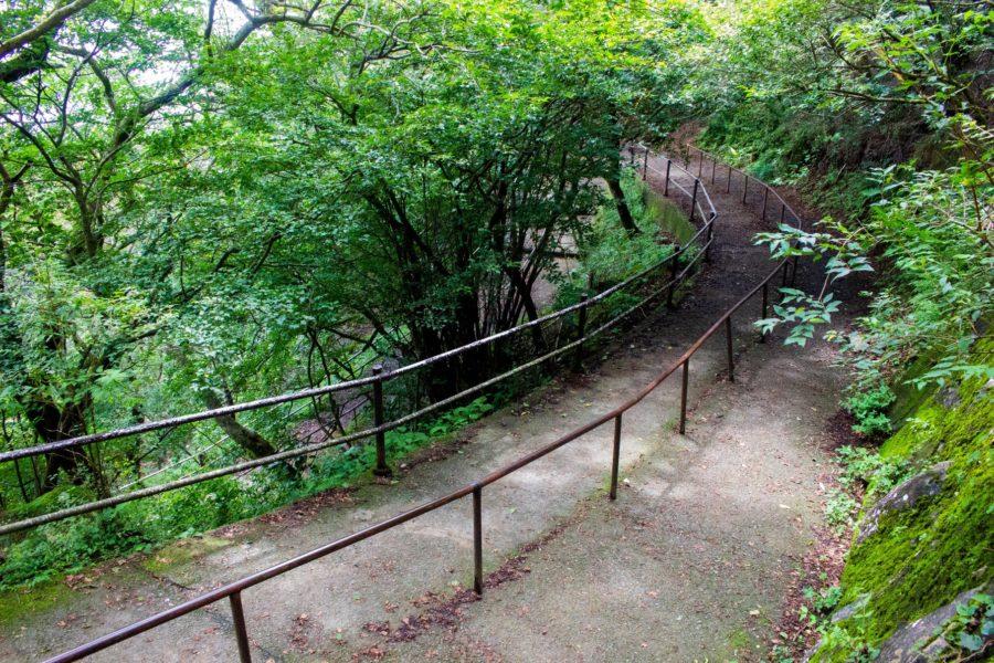 女体山駅への下り道の様子
