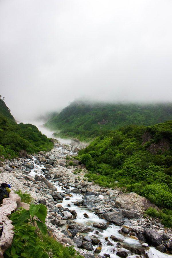 大雪渓方向の景色