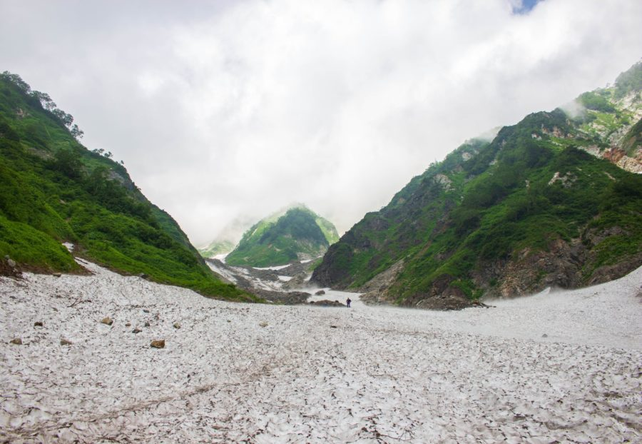 大雪渓の眺め1
